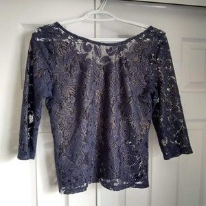 See through top with 3/4 sleeves